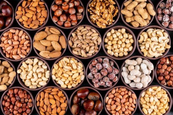 Nuts and seeds, healthy vegan diet