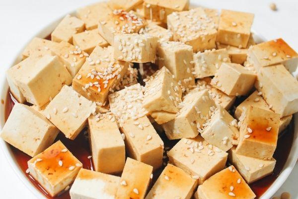 Tofu, healthy vegan diet